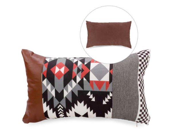 Coussin tribal rectangulaire