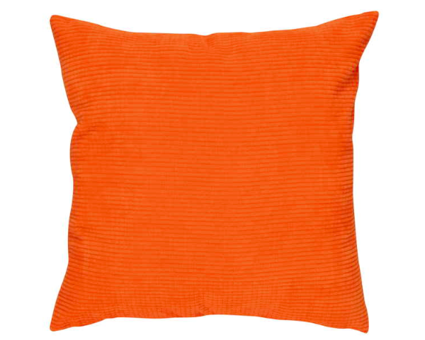 Coussin de velours orange